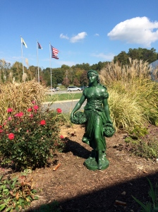 Demeter statue in front of my gym in Hillsborough, North Carolina