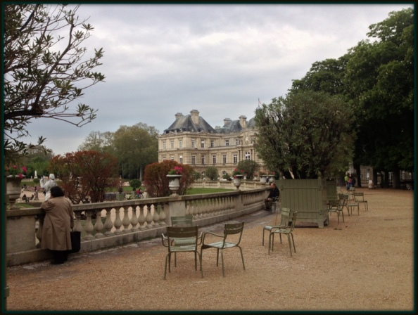 Chairs in Luxembourg Gardens, Paris by Mary Kendall
