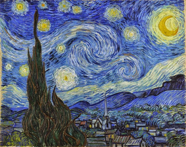The Starry Night by Vincent Van Gogh, 1889, Museum of Modern Art, NYC