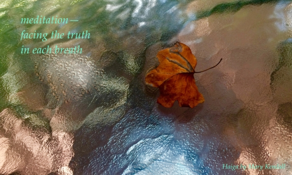 Meditation Haiga (glass table)