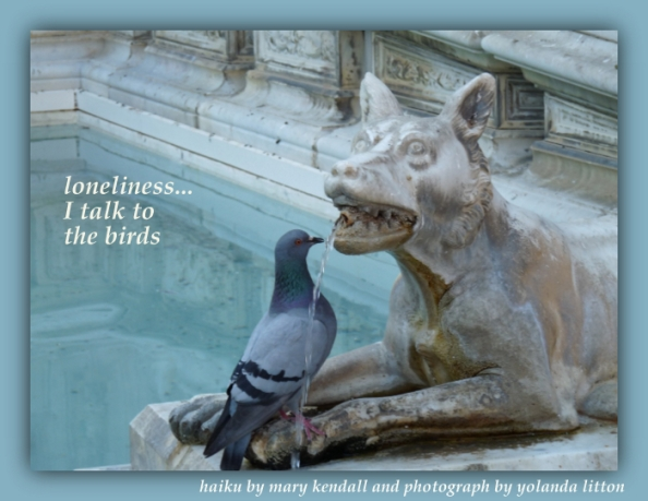 I talk to the birds haiga