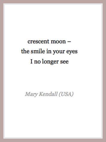 crescent moon haiku