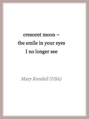 crescent moon haiku
