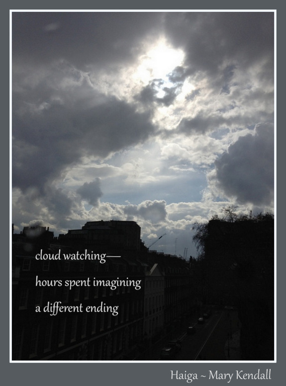 cloud watching haiga 2
